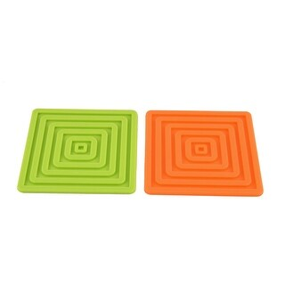 Silicone Square Table Heat Resistant Mat Coffee Cup Coaster Pad 2 Pcs
