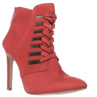 BCBGeneration Coy Pointed Toe Strappy Dress Ankle Booties, Cherry
