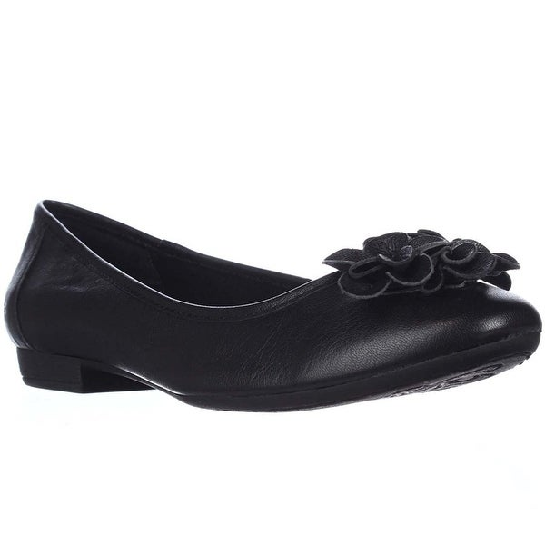 B.O.C Womens LEXANDRA Leather Almond Toe Ballet Flats