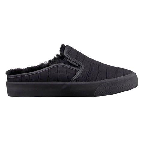 Lugz Clipper Lx Croc Mule Womens Sneakers Shoes Casual - Black