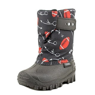 Tundra Teddy 4 Toddler Round Toe Synthetic Black Snow Boot