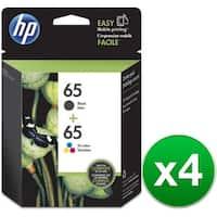 HP 65 2-Cartridges Black & Tri-Color Original Ink Cartridges (T0A36AN)(4-Pack)