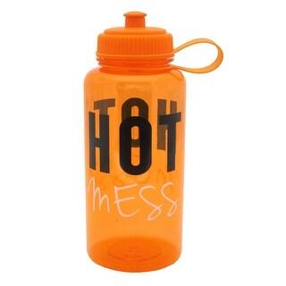 BPA-Free Sports Water Bottle,Tritan Attitude 32 oz. 1 L gym Bike trips, Orange