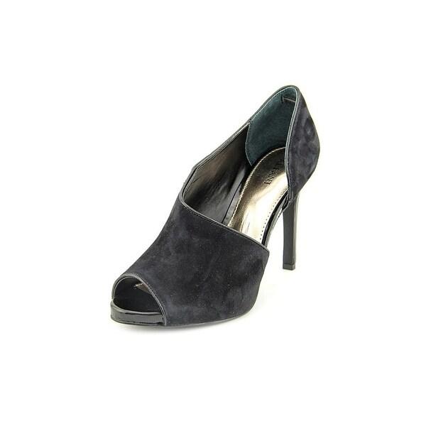 Alfani Lusee Women Peep-Toe Suede Black Heels