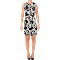 Aqua Womens Casual Dress Embroidered Floral