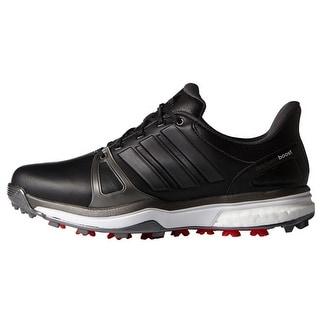 Adidas Men\u0027s Adipower Boost 2 Core Black/Dark Silver Metallics/Red Golf  Shoes Q44660
