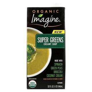 32 fl oz Organic Imagine Super Green Creamy Foods Soup - Case of 12
