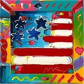 Flag, Ltd Ed Silk-screen, Peter Max