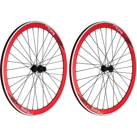 Wheelset 700 track sealed vuelta rr42 red action