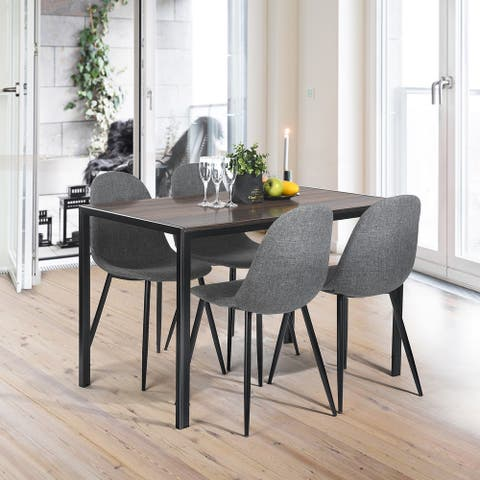 Furniture R Industrial Retangle Wood Dining Table