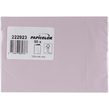 Light Pink - Papicolor A6 Folded Cards 50/Pkg