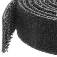 Startech Hook-And-Loop Cable Management Tie - 50 Ft. Bulk Roll - Black - Cut-To-Size Cable Wrap / Straps