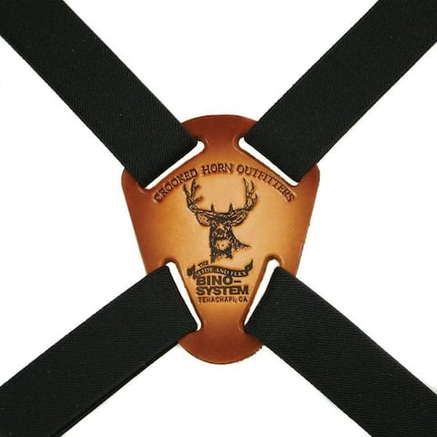 "Crooked Horn Black 1"" Strap - BS-125"