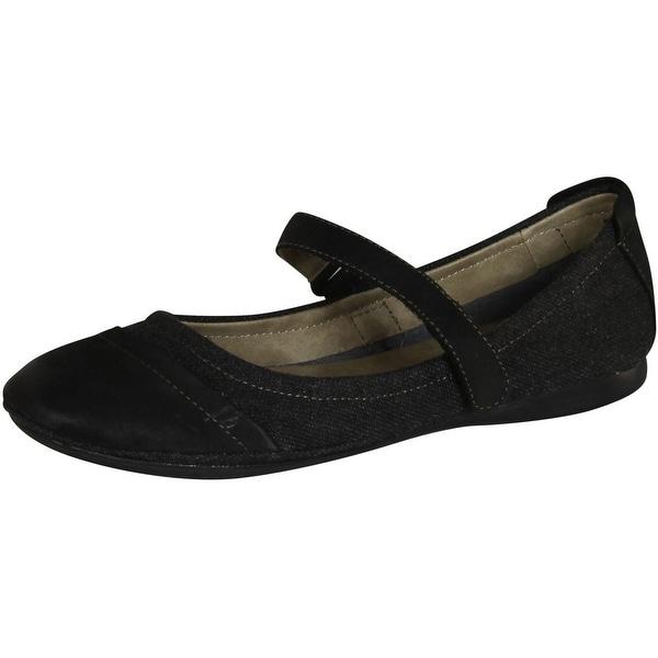 Pella Mary Jane Flats Shoes - Black