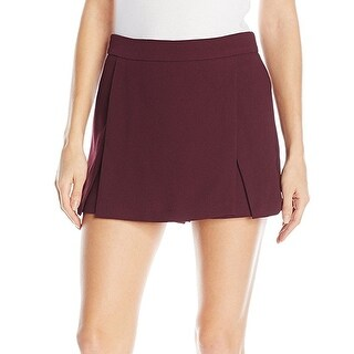 BCBG Generation NEW Red Burgundy Women's Size 2 Solid Kilt Mini Skorts