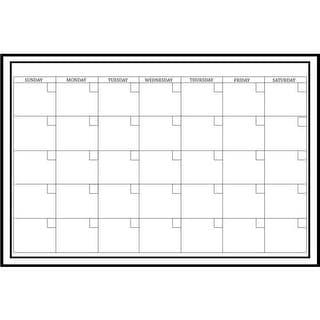 Brewster WPE0447 White Board Monthly Calendar