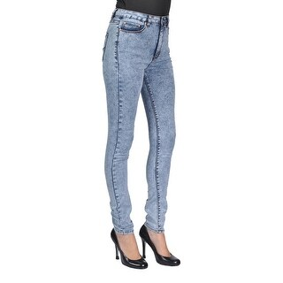 C'est Toi 4 Pockets Women's Skinny Jeans -Light Acid Junior Size