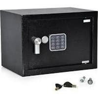 13.8 x 9.8 x 9.8 in. Compact Electronic Safe Box with Mechanical