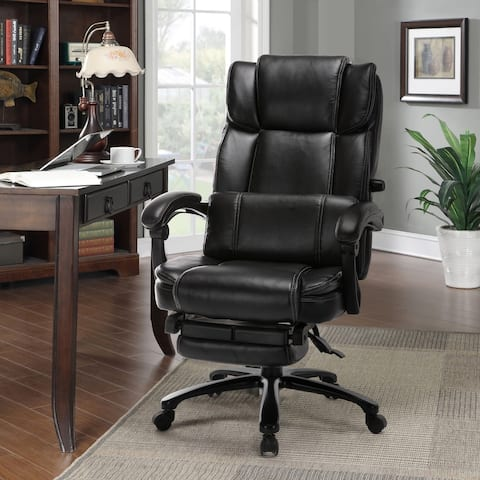 Reclining Office Chair with Adjustable Lumbar Support and Locking System