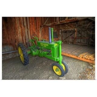 """John Deere tractor in shed, Lohr Farm Museum, Longmont, Colorado"" Poster Print"