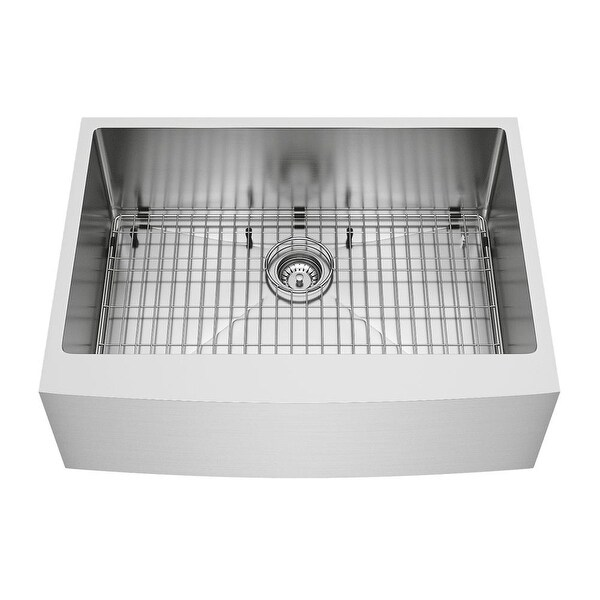 Vigo Vgr3020ck1 30 Single Basin Farmhouse Kitchen Sink With Basket Strainer Cutting Board And Rack Free Shipping Today