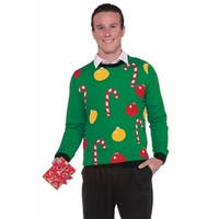 Forum Novelties Christmas Sweater Ornaments Adult Costume (XL) - Green - X-LARGE