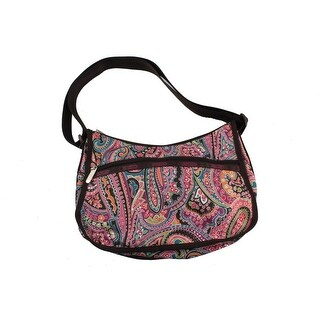 Le SportSac Womens Printed Crossbody Hobo Handbag - love is bold - Medium