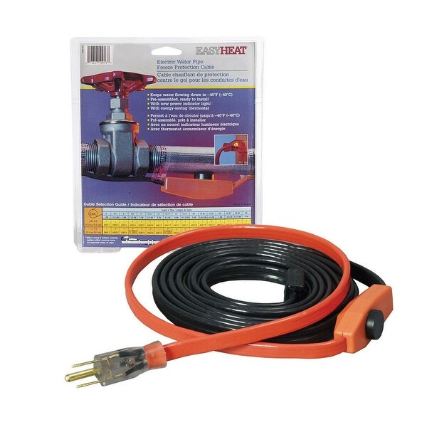 Easy Heat AHB-160 Water Pipe Heating Cable, 60 Feet