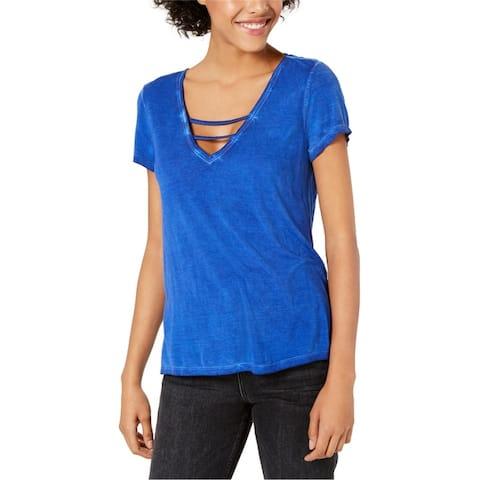 Bar Iii Womens Strappy Basic T-Shirt