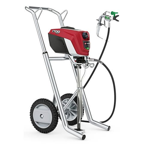 Titan 0580006 ControlMax 1700 Pro Efficient Airless Sprayer w/ Cart, 1500 PSI
