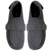 Women's Foamtreads Dark Gray Comfort Slippers - Medium