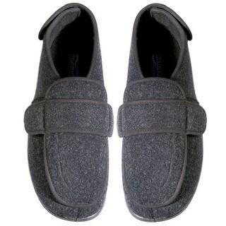 Women's Foamtreads Dark Gray Comfort Slippers - Wide