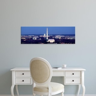 Easy Art Prints Panoramic Images's 'High angle view of a city, Washington DC, USA' Premium Canvas Art