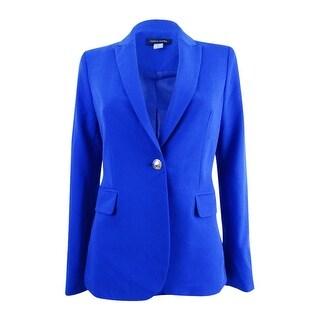 Tommy Hilfiger Women's Notched Collar Blazer - cobalt