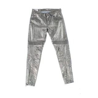 Polo Ralph Lauren NEW Women's Size 27X28 Moto Zip-Detail Skinny Jeans