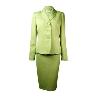 Le Suit Women's Yacht Club Shimmer Skirt Suit