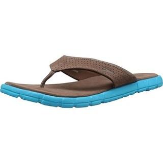 Speedo Mens Upshifter Leather Thong Flip-Flops - 9 medium (d)