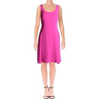 Lauren Ralph Lauren Womens Casual Dress Solid Sleeveless