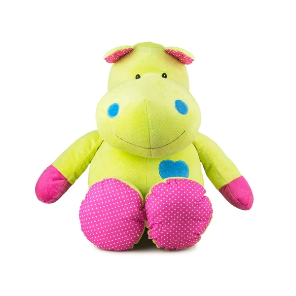 Beverly Hills Teddy Bear Company Bright Striped Hippo