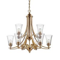 "Millennium Lighting 1469 Natalie 9 Light 32"" Wide Chandelier with Glass Shades"