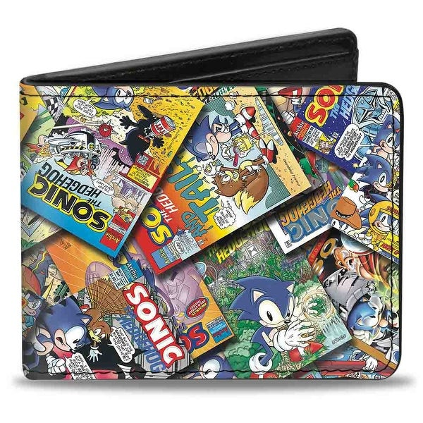 Sonic Comic Sonic Comics Stacked Bi Fold Wallet - One Size Fits most