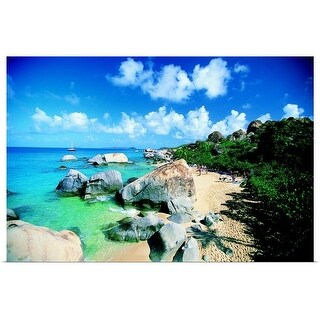 """Rocky beach on tropical island"" Poster Print"