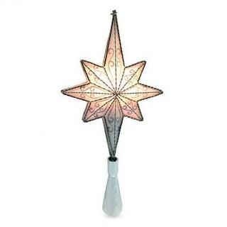 Sylvania V49338-88 Silver Mesh Star Christmas Tree Top w/ Shimmer PVC & C7 Light