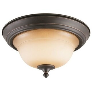 """Design House 512616 14"""" Wide Cameron Traditional / Classic 2 Light Ambient Lighting Flushmount Ceiling Fixture"""