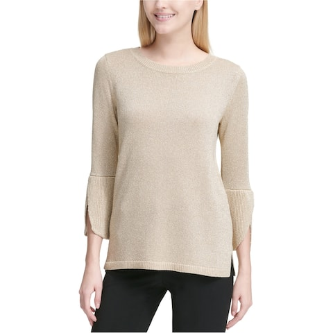 Calvin Klein Womens Metallic Pullover Sweater