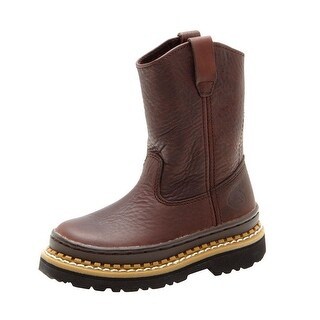 Georgia Boot Work Boys Little Giant Wellington Soggy Brown