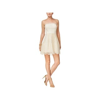 BCBGeneration Womens Juniors Cocktail Dress Fit & Flare Lace