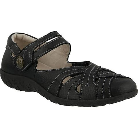 Spring Step Women's Hearts Mary Jane Black Leather