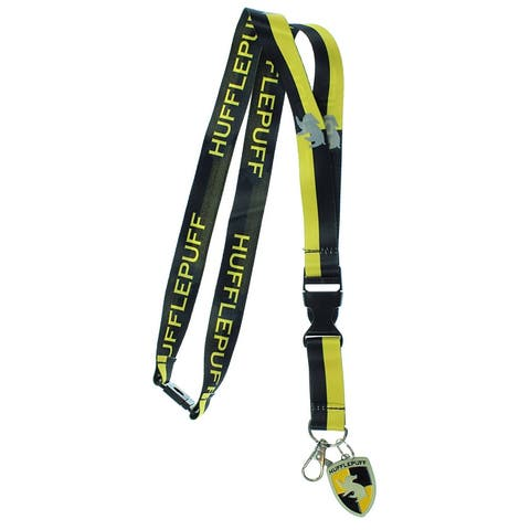 Harry Potter Hufflepuff Lanyard With 3D Metal Charm ID Card Holder And Sticker