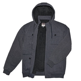 Link to Victory Outfitters Men's Multi Pocket Fleece Midweight Zip Up Hoodie Similar Items in Men's Outerwear